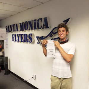 Picture of a student learning to fly a plane